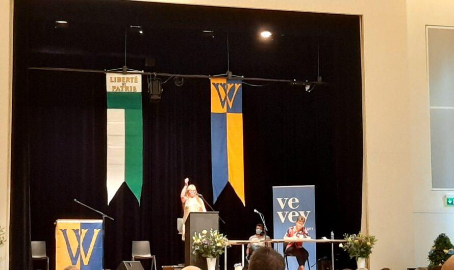 Anne-Francine Simonin est élue première citoyenne de la ville de Vevey